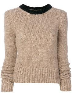 свитер с контрастным воротом Marni