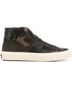 кроссовки с кожаными вставками Tom Ford