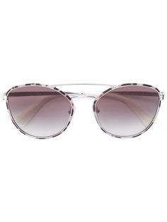 округлые солнцезащитные очки-авиаторы Prada Eyewear