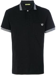 футболка-поло с принтом на спине  Versace Jeans