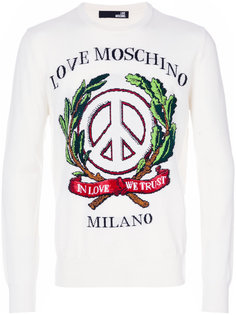 толстовка с вышивкой Love Moschino
