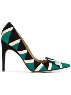 туфли с геометрическим узором Sergio Rossi