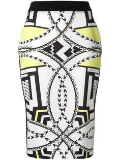 юбка-карандаш с принтом  Versace Jeans