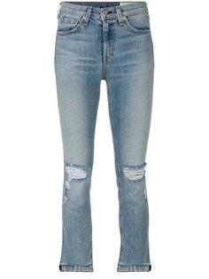 рваные укороченные джинсы Rag & Bone /Jean
