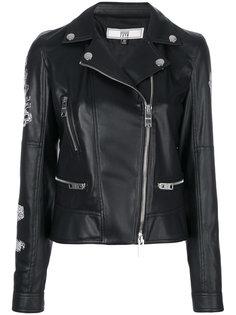 байкерская куртка с принтом на спине Versus