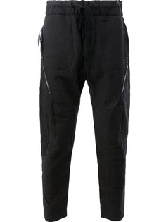 брюки с декоративными молниями Cedric Jacquemyn