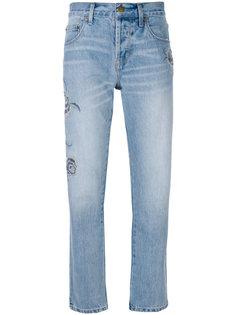 прямые джинсы с вышивкой Current/Elliott