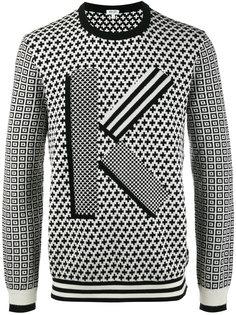 свитер с геометрическим узором K Kenzo