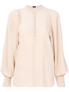 блузка с присборенными у манжет рукавами Joseph