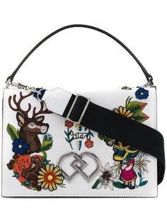 сумка через плечо с вышивкой DD Dsquared2