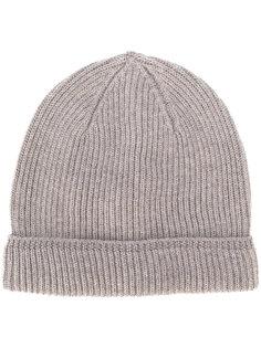 шапка-бини с ребристой фактурой Canali