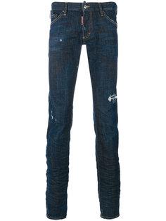 джинсы Long Clement с эффектом потертости Dsquared2