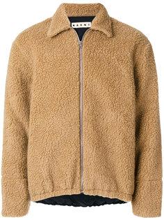 куртка-бомбер из овчины Marni