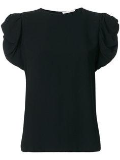 футболка с оборочными рукавами Chloé