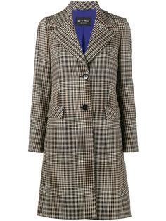 клетчатое пальто с широким воротником Etro