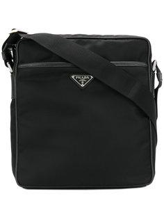 сумка-почтальонка с логотипом Prada