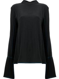 блузка с расклешенными рукавами и контрастными швами Marni