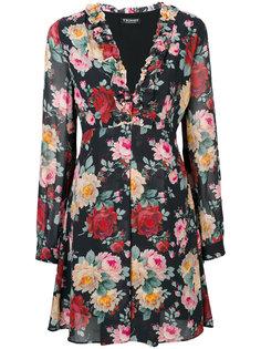 расклешенное платье с розами Twin-Set