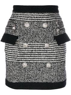 мини-юбка с вышивкой Balmain