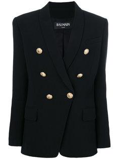 двубортный пиджак с крупными пуговицами Balmain
