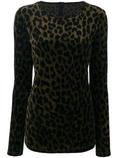свитер с леопардовым рисунком Odeeh