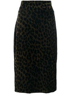 юбка-карандаш с леопардовым рисунком Odeeh
