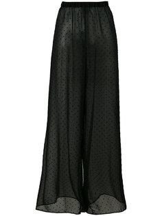 широкие полупрозрачные брюки Mm6 Maison Margiela