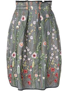 вышитая юбка-баллон со складками Odeeh