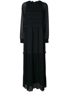 плиссированное платье макси  Steffen Schraut