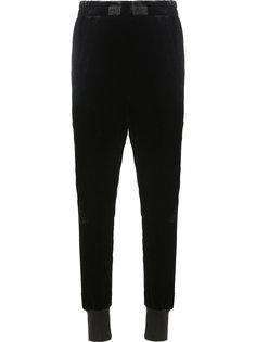 бархатный спортивные брюки Ann Demeulemeester