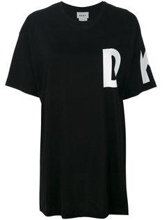 футболка с логотипом Donna Karan