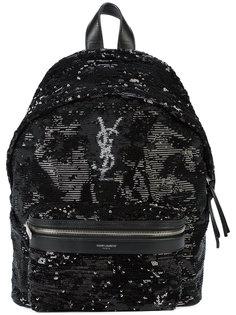 рюкзак с логотипом Saint Laurent