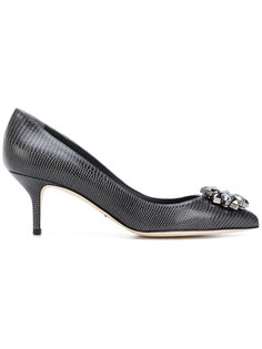 туфли-лодочки с заостренным носком с украшением из кристаллов Dolce & Gabbana