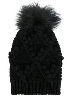 шапка с меховым помпоном Dolce & Gabbana