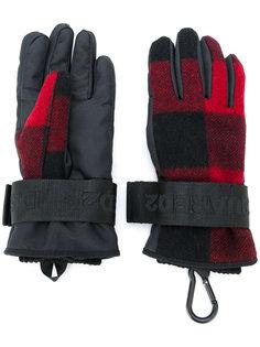 перчатки в клетку  Dsquared2