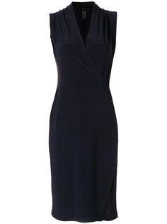 приталенное платье с запахом Norma Kamali