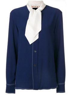 блузка с белым шарфом Marni