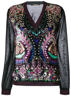 свитер с V-образным вырезом Roberto Cavalli
