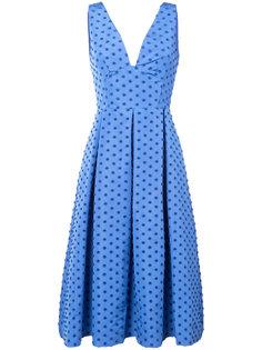 платье в горох со складками Lela Rose