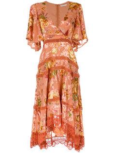 floral midi dress Martha Medeiros