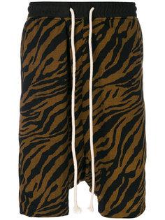 шорты с рисунком под шкуру тигра Yuiki Shimoji