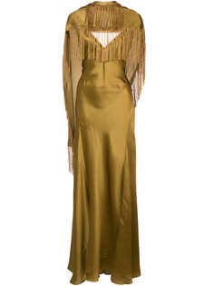 fringed asymmetric draped gown Gabriela Hearst