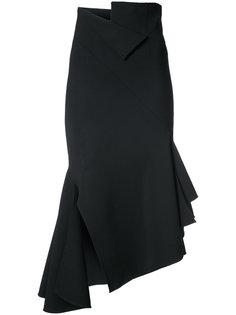 асимметричная расклешенная юбка Monse