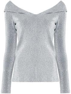блузка с металлическим отблеском Rosetta Getty