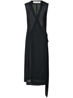 прозрачное платье с запахом Victoria Beckham