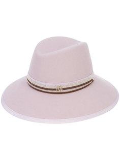 шляпа с бляшкой Maison Michel