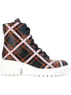 ботинки в шотландскую клетку на шнуровке Kenzo