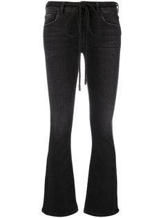 расклешенные джинсы с вышивкой Off-White
