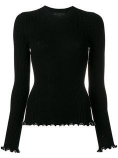 свитер с оторочкой из бусин Alexander Wang