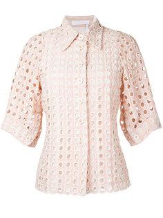 рубашка с люверсами  Chloé